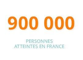900 000 personnes  atteintes en France
