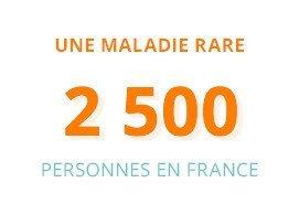 Une maladie rare : 2500 personnes en France