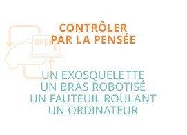 Contrôler par la pensée : un exosquelette, un bras robotisé, un fauteil roulant, un ordinateur