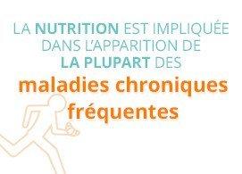 La nutrition est impliquée dans l'apparition de la plupart des maladies fréquentes