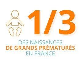 1/3 des naissances de grands prématurés en France
