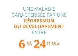 Une maladie caractérisée par une régession du développement entre 6 et 24 mois