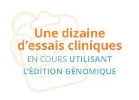 Une dizaine d'essais cliniques utilisant l'édition génomique en cours