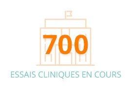 Plus de 700 essais cliniques en cours