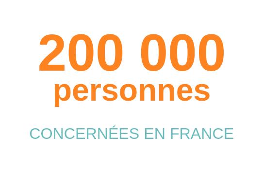 200 000 personnes concernées en France