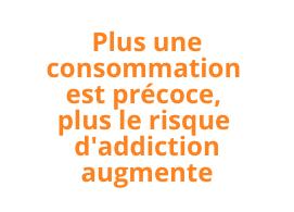 Plus une consommation est précoce, plus le risque d'addiction augmente