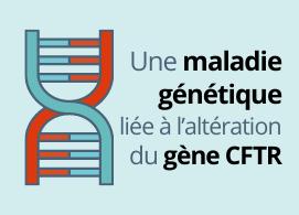 Une maladie génétique, liée à l'altération du gène CFTR