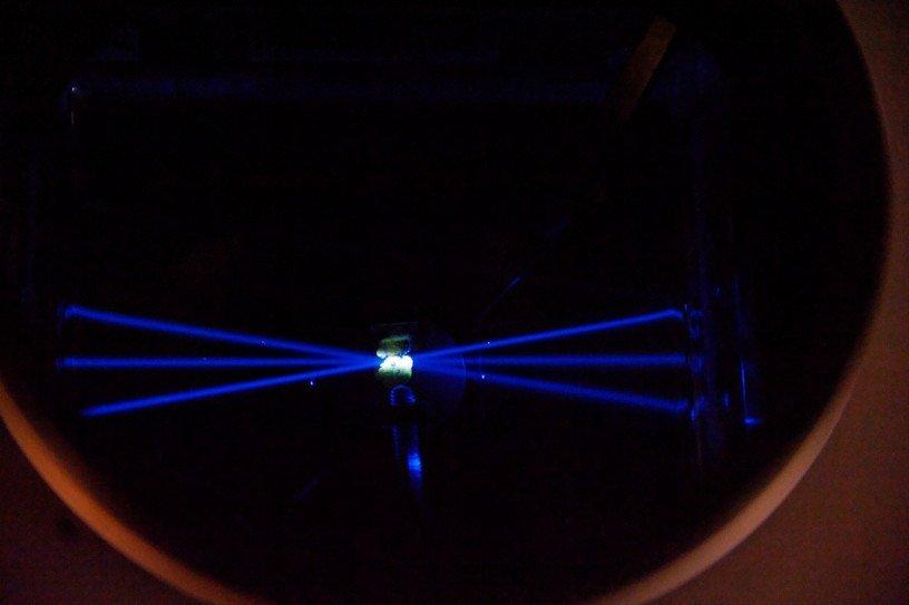 Laser bleu © Inserm/Guénet, François