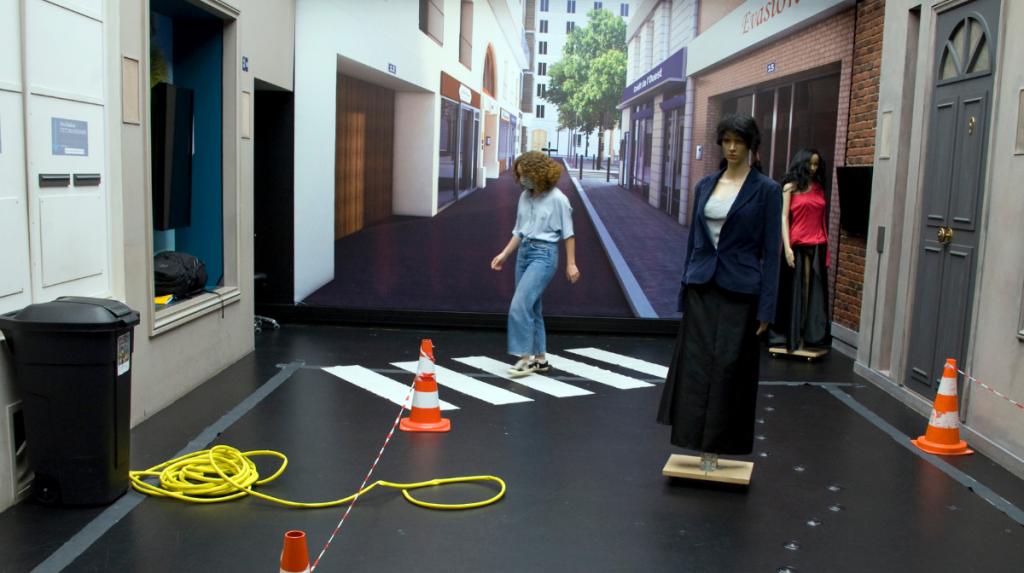 Plateforme de tests de mise en situation réelle pour les patients « Streetlab », à l'Institut de la vision ©Inserm/François Guénet