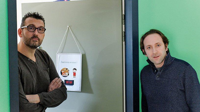 Emmanuel Maby (à gauche) et Jérémie Mattout (à droite)