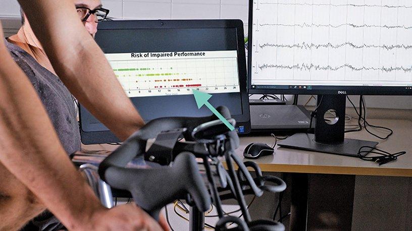 Test d'effort sur vélo