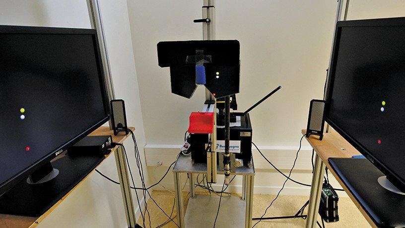 Cette machine les scientifiques analysent les capacités d'adaptation sensorimotrice.