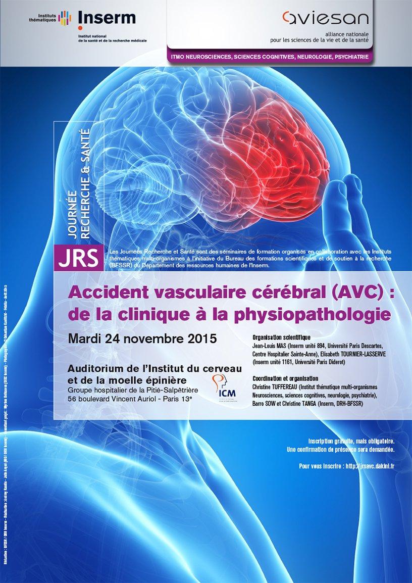 Affiche de la journée recherche et santé 2015 : AVC de la clinique à la physiopathologie