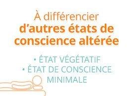 A différencier d'autres états de conscience altérée : état végétatif, état de conscience minimale
