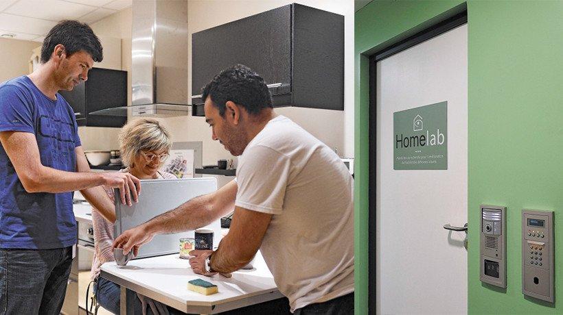 Le HomeLab, appartement laboratoire qui permet de tester, en conditions réelles, les technologies destinées à l'habitat, pour faciliter l'autonomie des personnes en situation de handicap visuel.