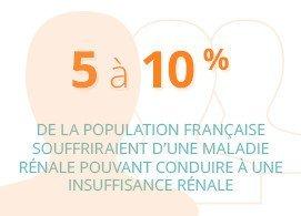 5 à 10% de la population française souffriraient d'une maladie rénale pouvant conduire à une insuffisance rénale