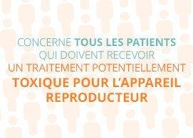 Concerne tous les patients qui doivent recevoir un traitement potentiellement toxique pour l'appareil reproducteur